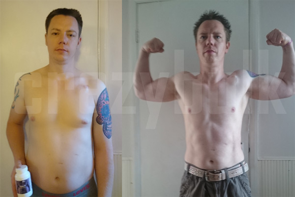 "Carl, before and after Crazy Bulk Trenorol usage Used Crazy Bulk Trenorol capsules for 4 weeks, Carl: ""Put on 7l bs of lean muscle but lost 2 cm of waist and also put on 2 cm on biceps."""