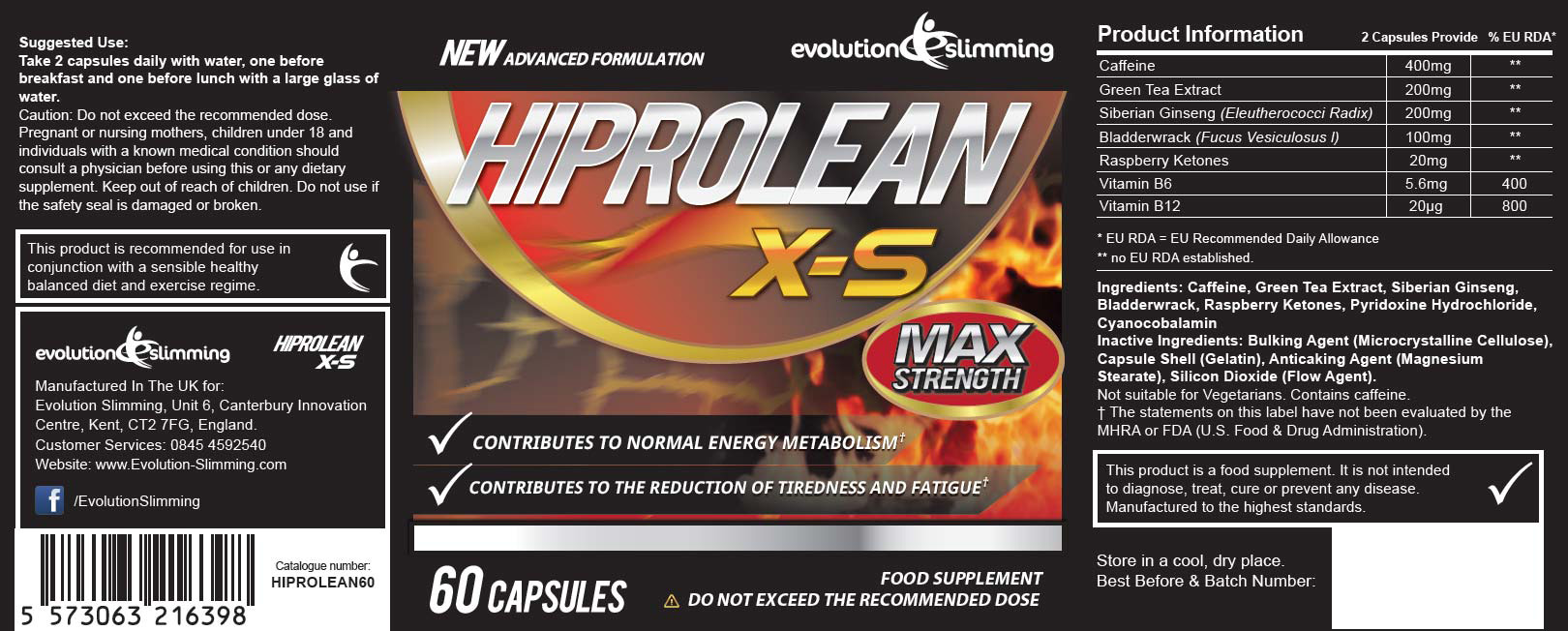 Hiprolean X-S product's label